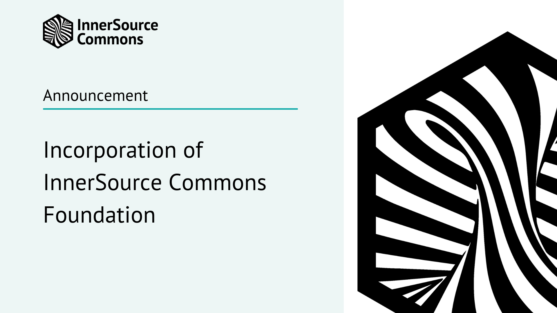 Incorporation of InnerSource Commons Foundation
