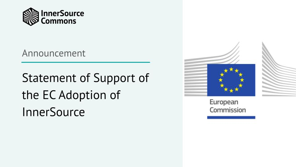 Statement of Support of the EC Adoption of InnerSource