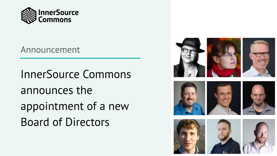InnerSource Commons announces the appointment of a new Board of Directors